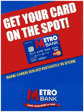 Metro Bank UK Debit Card Poster